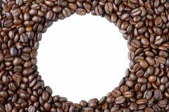 Σειρά των φασολιών καφέ σε ένα άσπρο υπόβαθρο Στοκ φωτογραφίες με δικαίωμα ελεύθερης χρήσης