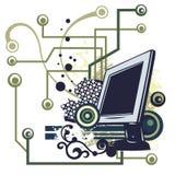 σειρά υπολογιστών ανασκόπησης Στοκ εικόνα με δικαίωμα ελεύθερης χρήσης