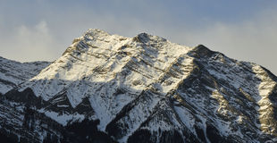 Σειρά χειμερινών βουνών Στοκ εικόνα με δικαίωμα ελεύθερης χρήσης