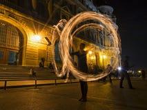 Σειρά χορευτών πυρκαγιάς Στοκ φωτογραφίες με δικαίωμα ελεύθερης χρήσης
