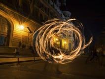 Σειρά χορευτών πυρκαγιάς Στοκ Εικόνα
