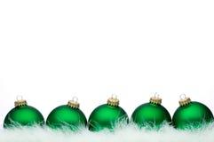 σειρά Χριστουγέννων σφαι&r Στοκ Εικόνα