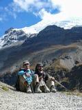 Σειρά Annapurna από το στρατόπεδο βάσεων Tilicho, Νεπάλ Στοκ φωτογραφία με δικαίωμα ελεύθερης χρήσης