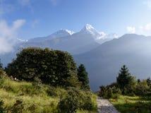 Σειρά Annapurna από το Hill Poon, Νεπάλ Στοκ εικόνες με δικαίωμα ελεύθερης χρήσης