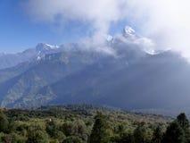 Σειρά Annapurna από το Hill Poon, Νεπάλ Στοκ Φωτογραφίες