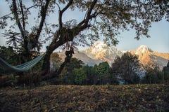Σειρά Annapurna και η αιώρα Στοκ φωτογραφίες με δικαίωμα ελεύθερης χρήσης