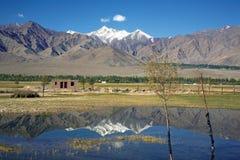 Σειρά Kangri Stok και κοιλάδα Leh, leh-Ladakh, Ινδία Στοκ Εικόνες