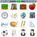 σειρά robico εικονιδίων εκπαί&delt Στοκ Εικόνες