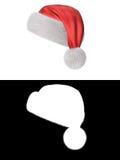 σειρά santa καπέλων s Στοκ Εικόνες