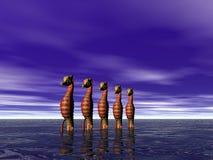 σειρά seahorse διανυσματική απεικόνιση