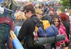 Σειρές αναμονής φεστιβάλ του Isle of Wight Στοκ φωτογραφία με δικαίωμα ελεύθερης χρήσης
