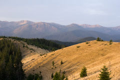 Σειρές βουνών, Carpathians Στοκ Φωτογραφία