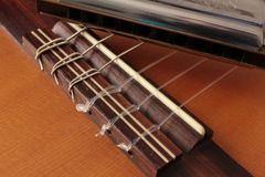 Σειρές κιθάρων σε μια στάση Στοκ Εικόνα
