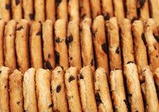 σειρές μπισκότων σοκολάτ& Στοκ φωτογραφία με δικαίωμα ελεύθερης χρήσης