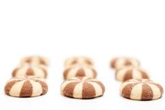 Σειρές μπισκότων Στοκ εικόνες με δικαίωμα ελεύθερης χρήσης
