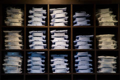 Σειρές των επιχειρησιακών πουκάμισων Στοκ φωτογραφία με δικαίωμα ελεύθερης χρήσης
