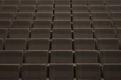 Σειρές των καθισμάτων σε ένα θέατρο Στοκ Εικόνες
