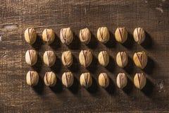 Σειρές των καρυδιών φυστικιών Στοκ Φωτογραφίες