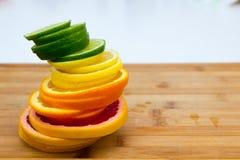 Σειρές των κύκλων φρούτων Στοκ φωτογραφία με δικαίωμα ελεύθερης χρήσης