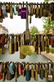 3 σειρές των κλειδαριών Στοκ Εικόνα