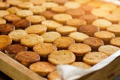 Σειρές των μπισκότων κάτω από το φως του ήλιου Στοκ φωτογραφία με δικαίωμα ελεύθερης χρήσης