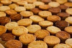Σειρές των μπισκότων Στοκ εικόνα με δικαίωμα ελεύθερης χρήσης