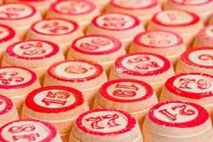 Σειρές των ξύλινων βυτίων για το bingo Στοκ εικόνα με δικαίωμα ελεύθερης χρήσης