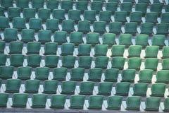 Σειρές των πράσινων άδειων θέσεων Στοκ Φωτογραφίες