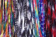 Σειρές υφάσματος υποβάθρου που δημιουργούν τα μαντίλι, πολλαπλάσιο που χρωματίζεται Στοκ Εικόνες