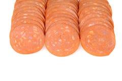 Σειρές pepperoni Στοκ εικόνα με δικαίωμα ελεύθερης χρήσης