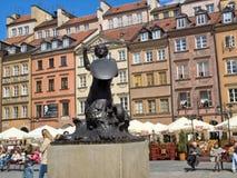 Σειρήνα της Βαρσοβίας στο τετράγωνο αγοράς Στοκ Φωτογραφίες