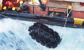 Σεισμικές σκάφη ή βάρκες παράκτια, Κόλπος του Μεξικού, βιομηχανία πετρελαίου Στοκ Φωτογραφία