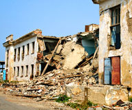σεισμός συνέπειας στοκ φωτογραφία