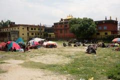 Σεισμός 2015 του Νεπάλ Κατμαντού στοκ εικόνες