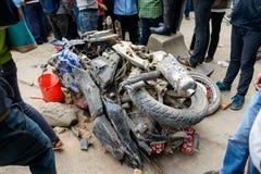 Σεισμός του Νεπάλ στο Κατμαντού Στοκ Εικόνα