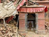 Σεισμός του Νεπάλ στο Κατμαντού στοκ φωτογραφίες