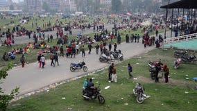 Σεισμός του Νεπάλ στο Κατμαντού απόθεμα βίντεο