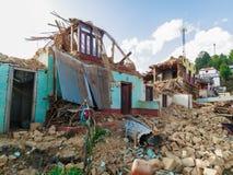 Σεισμός του Νεπάλ στοκ εικόνα