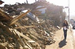σεισμός 8 Χιλή richter Στοκ φωτογραφία με δικαίωμα ελεύθερης χρήσης