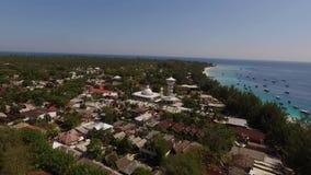 Σεισμός Lombok σε Gili Trawangan απόθεμα βίντεο