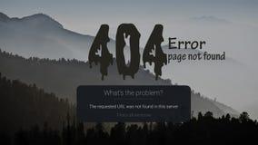404-σελίδα λάθος με το βουνό στο υπόβαθρο ελεύθερη απεικόνιση δικαιώματος