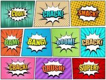 Σελίδες κόμικς καθορισμένες ελεύθερη απεικόνιση δικαιώματος