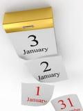 Σελίδες που μειώνονται από tear-off το ημερολόγιο Στοκ Εικόνα