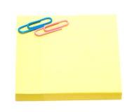 σελίδες σημειωματάριων κίτρινες Στοκ Εικόνες