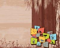 σελίδα σχεδιαγράμματος χλωρίδας πανίδας Στοκ φωτογραφία με δικαίωμα ελεύθερης χρήσης