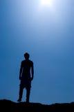 σεληνιακή σκιαγραφία Στοκ εικόνες με δικαίωμα ελεύθερης χρήσης