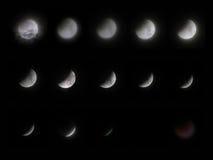 σεληνιακό σύνολο έκλειψ Στοκ Φωτογραφίες