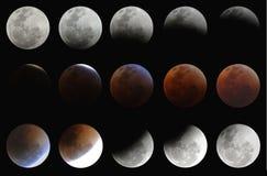 σεληνιακό σύνολο έκλειψ Στοκ φωτογραφία με δικαίωμα ελεύθερης χρήσης