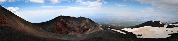 Σεληνιακό τοπίο στις πλευρές του υποστηρίγματος Etna Στοκ Φωτογραφία