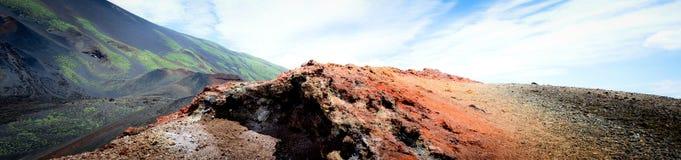 Σεληνιακό τοπίο στις πλευρές του υποστηρίγματος Etna Στοκ Εικόνες